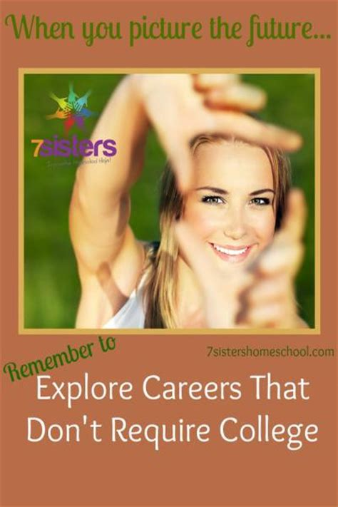 Explore Careers That Don't Require College - 7sistershomeschool.com