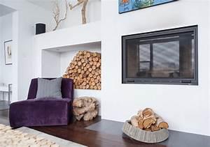 Kaminholz Stapeln Wohnzimmer : rangement bois de chauffage pour l int rieur en 55 id es ~ Michelbontemps.com Haus und Dekorationen