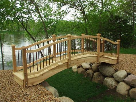 garden bridges garden bridges 4 52ft long elegant wooden landscape garden bridge