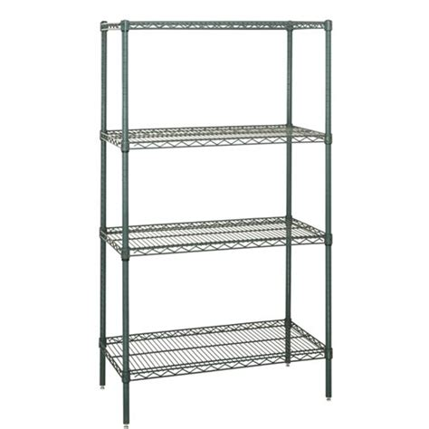 Wire Shelving by Stationary Wire Shelving Starter Unit Model S4 74 Zinc