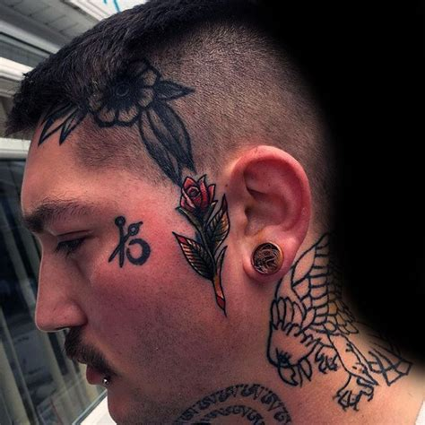 face tattoos  men masculine design ideas