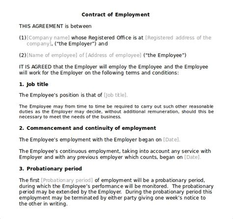 microsoft word contract templates