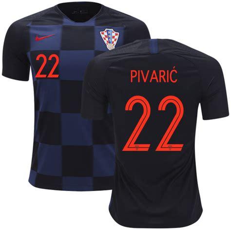 Croatia World Cup Away Josip Pivaric Shirt Soccer