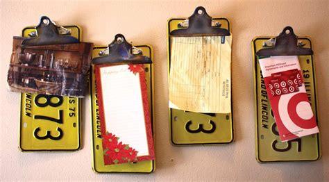 hometalk repurposedupcycled license plate clipboards