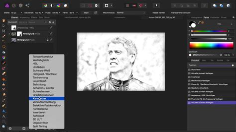affinity photo sketch effekt youtube