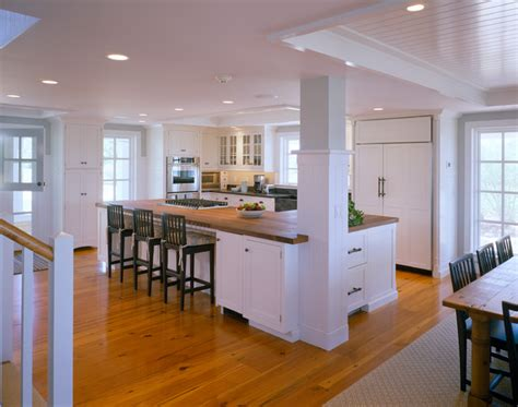 kitchen islands with posts dining room traditional kitchen boston by polhemus