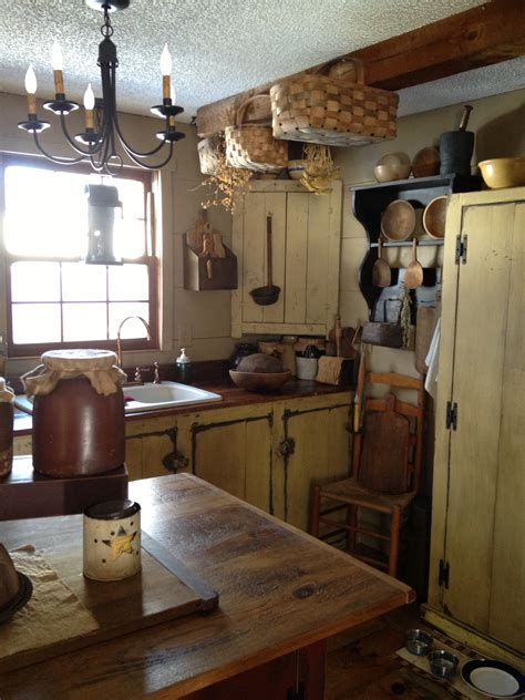Primitive Decor Kitchen Cabinets by Prim Mustard Kitchen Primitive Kitchen