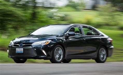 toyota camry hybrid test review car  driver