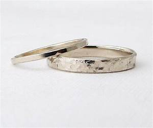 white gold wedding bands gold wedding ring set rustic wedding With rustic wedding ring sets
