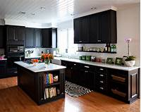 black cabinets in kitchen Turning A House Into A Home. | Kiki's List