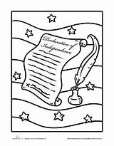 Declaration Independence Coloring July Worksheets Studies Social History Sheet Worksheet Grade 4th Jefferson Thomas Activities Colouring Holiday Printable Constitution Sheets sketch template