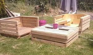 Fauteuil En Palette Facile : id es d co des salons de jardin en bois de palettes bricolage facile ~ Melissatoandfro.com Idées de Décoration