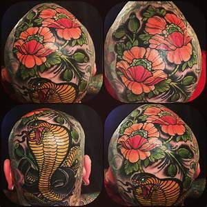Wood Paint Like head tattoo design | Best Tattoo Ideas Gallery