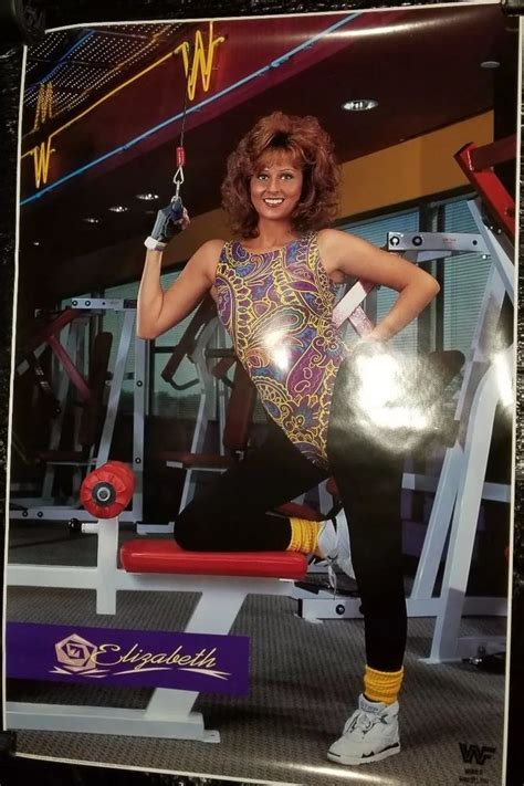 wwe wwf   elizabeth  workout poster titan