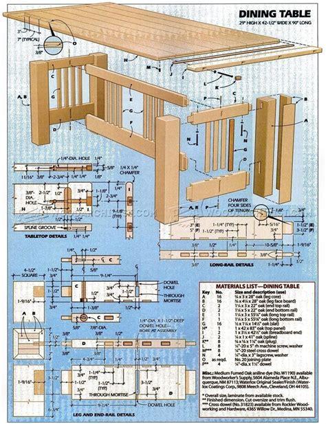 Dining Room Furniture Plans • Woodarchivist