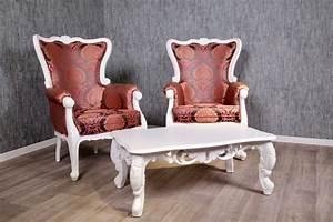 Barock Sofa Weiß : barock sofa garnitur knospe inkl couchtisch in wei pink komplette garnituren sofas sessel ~ Frokenaadalensverden.com Haus und Dekorationen