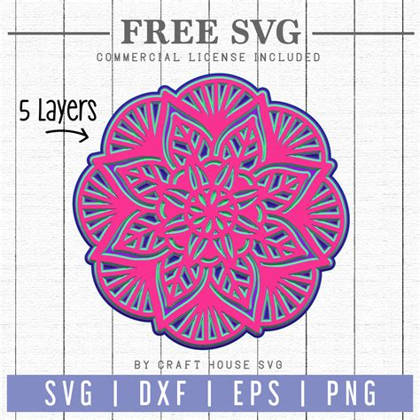 Almost files can be used for commercial. FREE 3D Layered Mandala SVG | FB91 - Craft House SVG