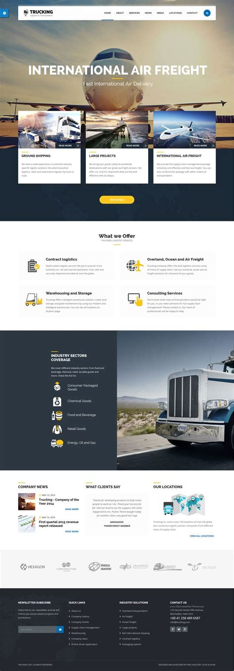 transport website template 9 best inspiration shipping and transport images on