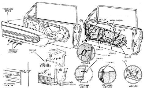 67 Mustng Door Wiring Diagram by Classic Mustang Door Trim Panel Diagram