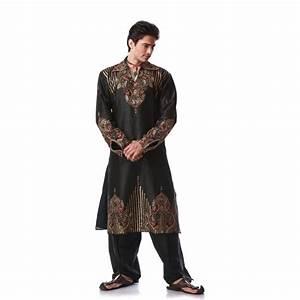 Tenue Indienne Homme : tenue indienne orientale noir et bien brod pour homme ~ Teatrodelosmanantiales.com Idées de Décoration