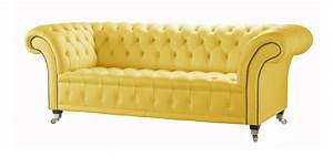 Yellow sofa bed yellow sofa bed bonners furniture thesofa for Yellow leather sofa bed