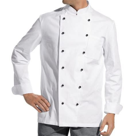 veste de cuisine homme personnalisable veste de cuisine manches longues 100 coton boutons boule