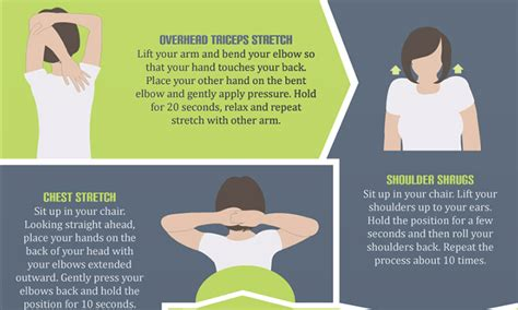 office exercises  refresh  tired muscles