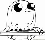 Coloring Gunter Adventure Keyboard Coloringpages101 sketch template