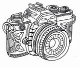 Coloring Camera Tribal Photography Pages Adult Printable Sheets Adults Cameras Print Star Tumblr Coloringsky Cartoon Detailed Template Colouring Designs Photographer sketch template