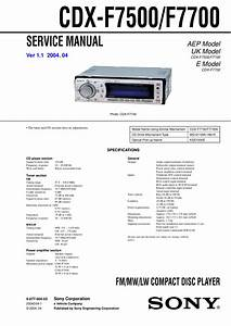 Sony Xplod Cdx F7700 Wiring Diagram