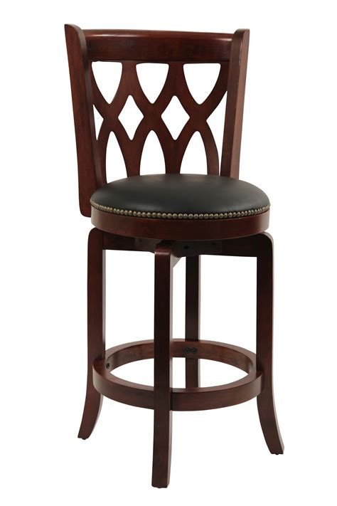 nailhead leather club stool swivel counter height dining