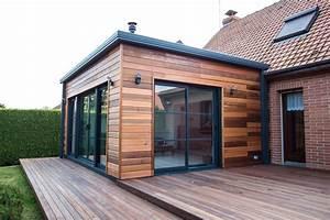 Agrandissement Maison : extension d 39 habitation naturel et cologique en r gion ~ Nature-et-papiers.com Idées de Décoration
