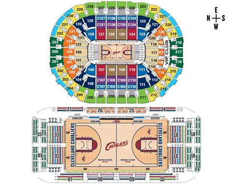 Cavs Floor Seat Viewer by Cleveland Cavs Floor Seating Chart Flash Seats Ticket