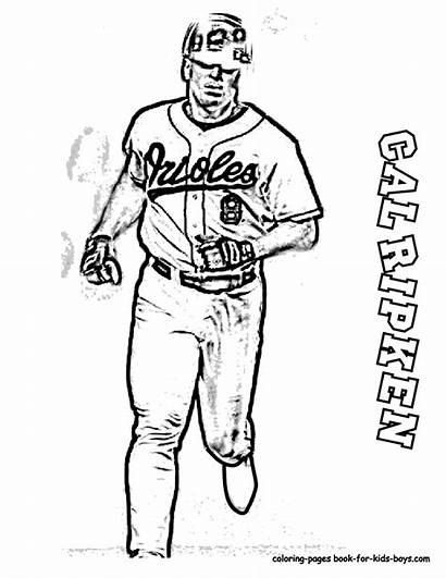 Baseball Coloring Pages Player Printable Mlb Sports
