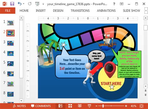 animated timeline game powerpoint template