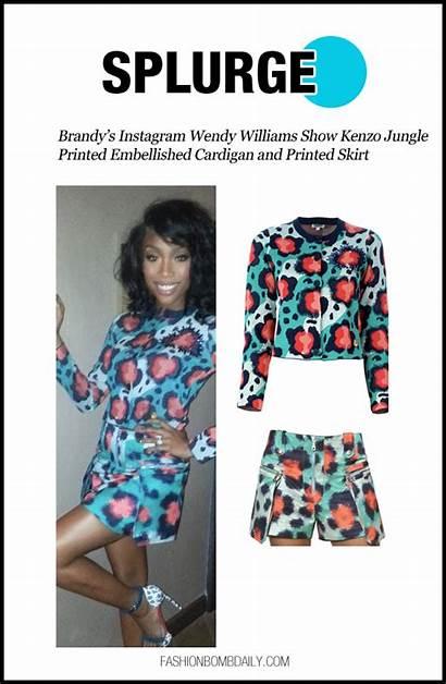 Cardigan Wendy Williams Skirt Printed Kenzo Splurge