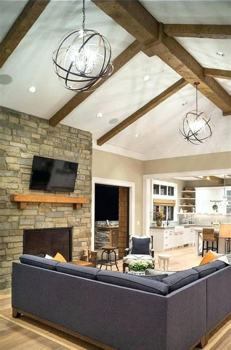 vaulted ceiling lighting fixtures family room vaulted