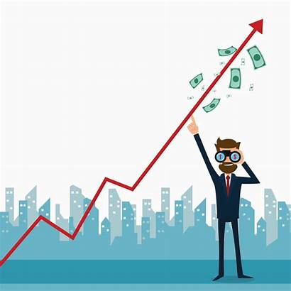 Stocks Money Growth Chart Looking Raise Graph