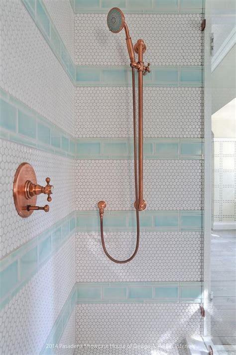 striped shower surround contemporary bathroom ici