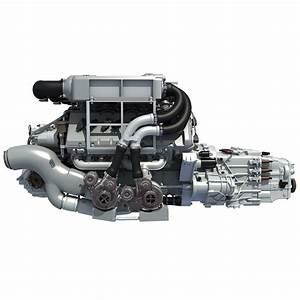 3d Bugatti Veyron W16 Engine Model