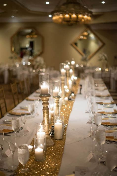 and gold reception decoration sparkly gold wedding at casa hotel fl prom ideas