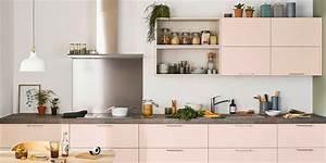 Cuisine Rose Poudré : rangement cuisine placards d 39 angle tiroirs coulissants meubles hauts marie claire ~ Melissatoandfro.com Idées de Décoration