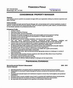 10 property manager resume templates pdf doc free With property manager resume template free
