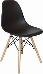 Chaise De Bureau Scandinave : chaise noire scandinave ~ Teatrodelosmanantiales.com Idées de Décoration