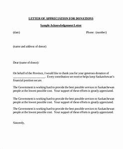 sample donation letter 10 examples in word pdf With appreciation letter for donation of money