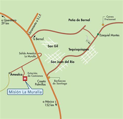 Mapa de Ubicacion Hotel Mision La Muralla, Amealco Mexico