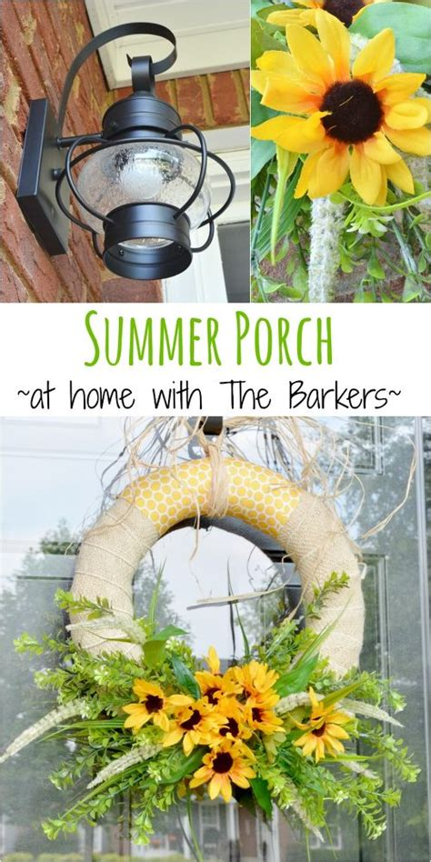 hometalk summer porch including diy sunflower wreath