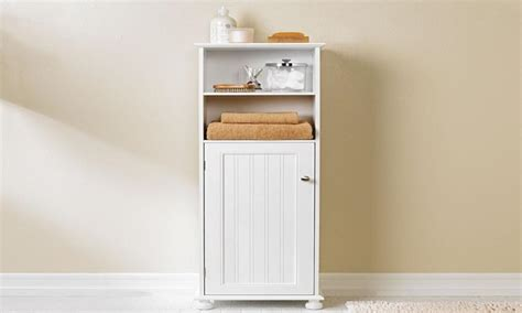 White Bathroom Wall Cabinet With Towel Rack