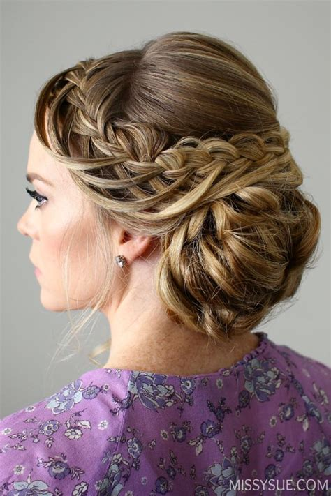 Updo Hairstyles With Braid looped braid updo hair tutorials updo and