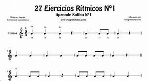 diegosax: 27 Ejercicios Rítmicos en 2/4 Partituras de Ritmos con Negra, Corcheas, Blanca y sus